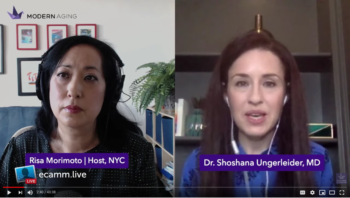 Live Interview and Q&A with Dr. Shoshana Ungerleider, MD
